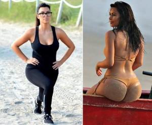 kim kardashian fesses