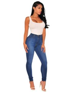 Jean Push Up Taille Haute But Lift Délavé Vintage - Latina Mode
