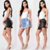 Jupe en Jean Sexy Effet Destroy Bordure Effilochée - Latina Mode - 1