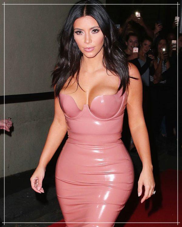 Robe courte vinyle bustier plongeant kim kardashian - latina mode